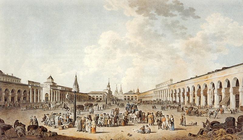 Вид Красной площади с комедиальной храминой
