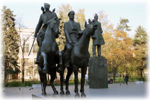 Памятник писателю А.А.Фадееву