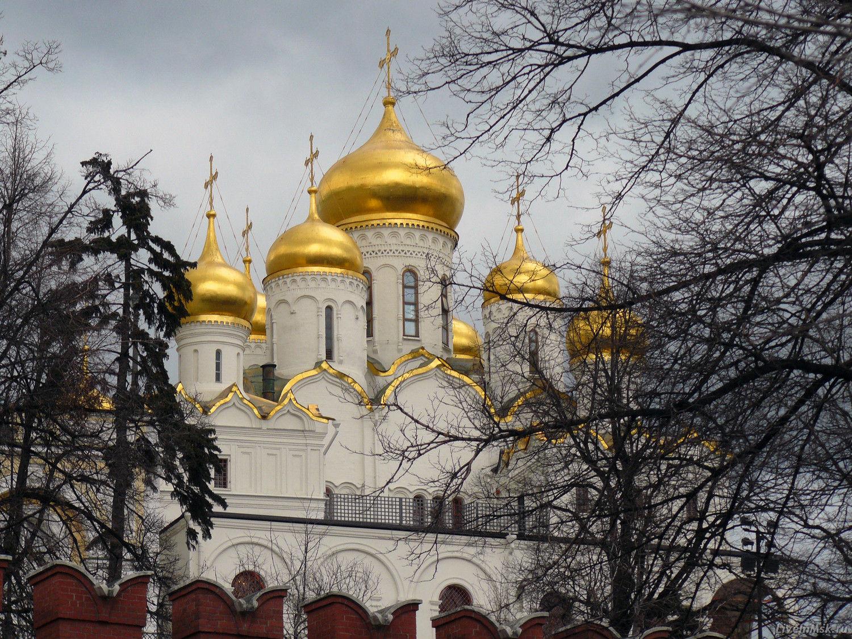 Благовещенский собор Московского Кремля, фото 2014 года