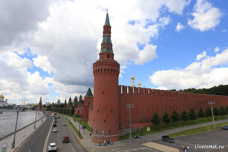 Беклемишевская (Москворецкая) башня Московского Кремля, фото 2017 года