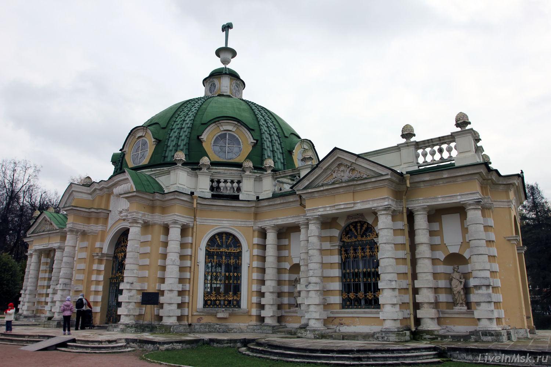Грот в Кусково, фото 2015 года